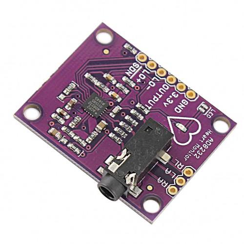 ماژول سنسور الکتروکاردیوگرافی ECG - ضربان قلب AD8232 ماژول سنسور الکتروکارد