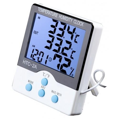 دستگاه سنجش دما ، رطوبت و ساعت دیجیتال HTC-2A با قابلیت سنجش دمای محیط بیرونی