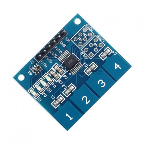 ماژول سنسور خازنی تاچ 4 تایی TTP224